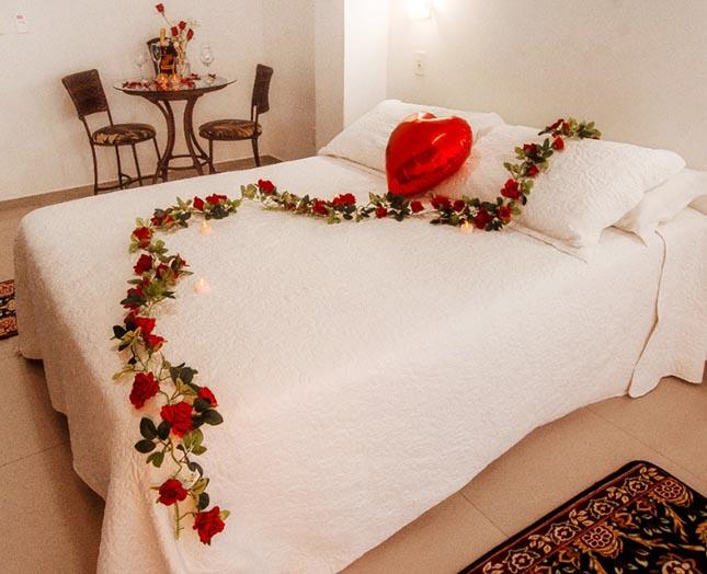 Quarto decorado romântico